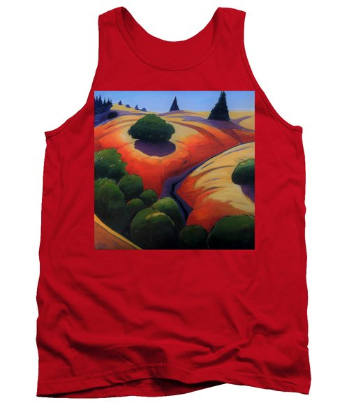Tank Top featuring the painting Gully by Gary Coleman