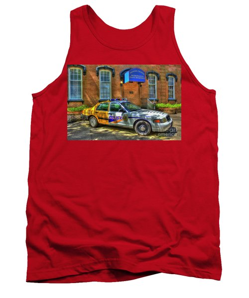Tank Top featuring the photograph Half And Half What Is It Manna Savannah Georgia Police Art by Reid Callaway