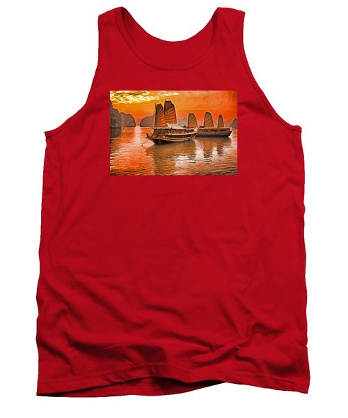 Halong Bay Junks Tank Top