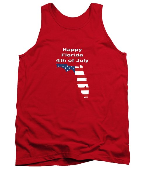 Happy Florida 4th Of July Tank Top