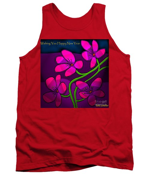 Happy New Year Tank Top by Latha Gokuldas Panicker