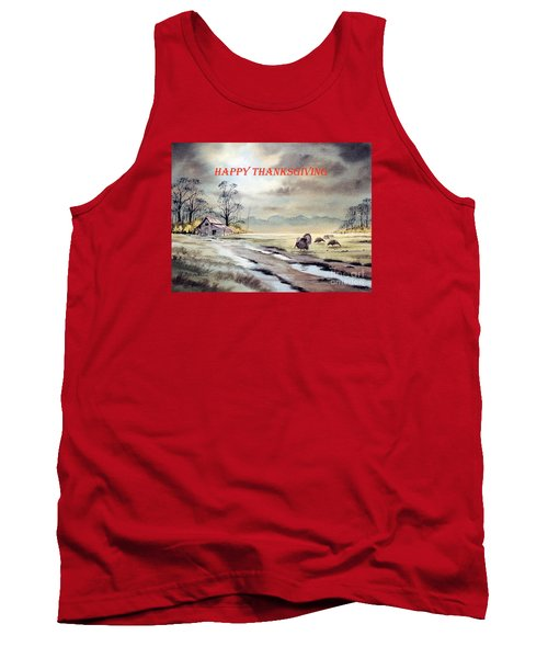 Tank Top featuring the painting Happy Thanksgiving  by Bill Holkham