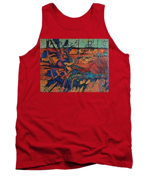 Tank Top featuring the painting Harbingers by Bernard Goodman