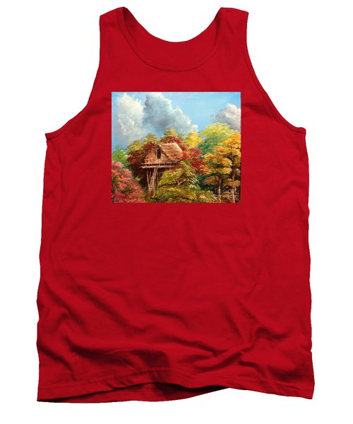 Tank Top featuring the painting Hariet by Jason Sentuf