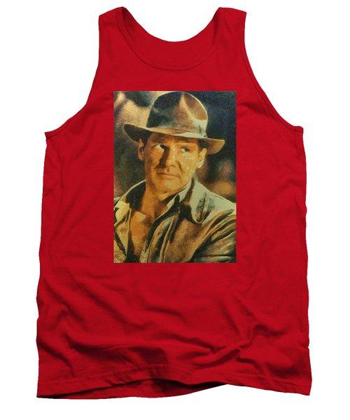 Harrison Ford As Indiana Jones Tank Top by Charmaine Zoe