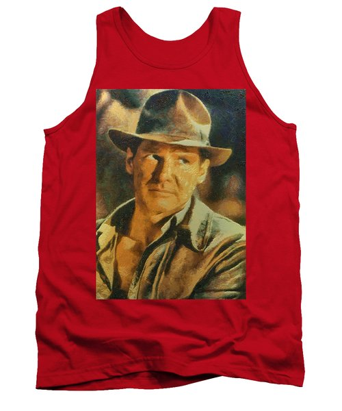 Harrison Ford As Indiana Jones Tank Top