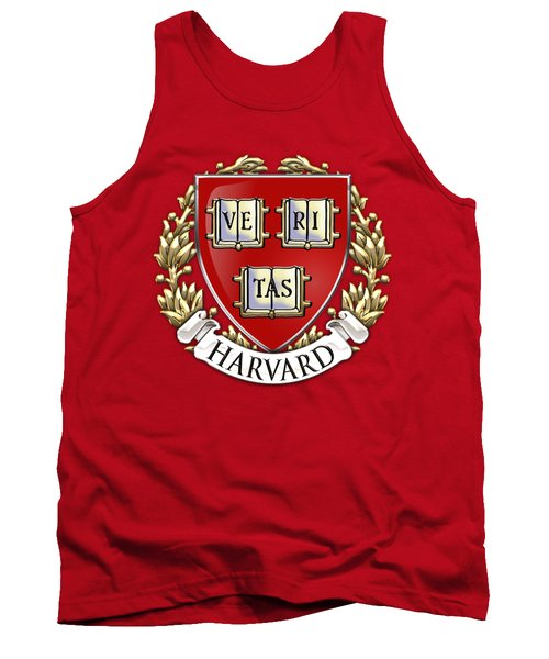 Harvard University Seal - Coat Of Arms Over Colours Tank Top by Serge Averbukh