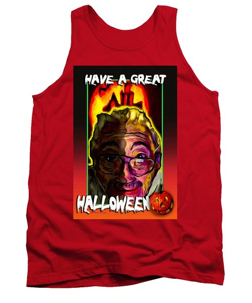 Tank Top featuring the painting Have A Great Halloween by Ted Azriel