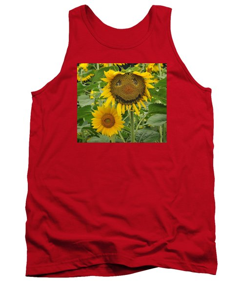 Have A Groovy Day Said The Hippie Flower Tank Top by Joanne Brown