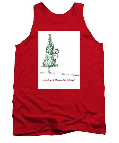 Having A Koala Christmas Tank Top