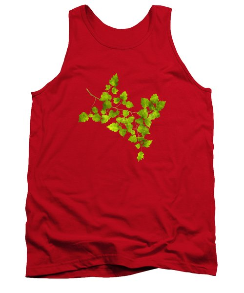 Hawthorn Pressed Leaf Art Tank Top by Christina Rollo
