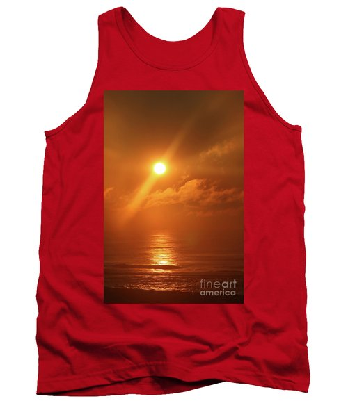 Hazy Orange Sunrise On The Jersey Shore Tank Top