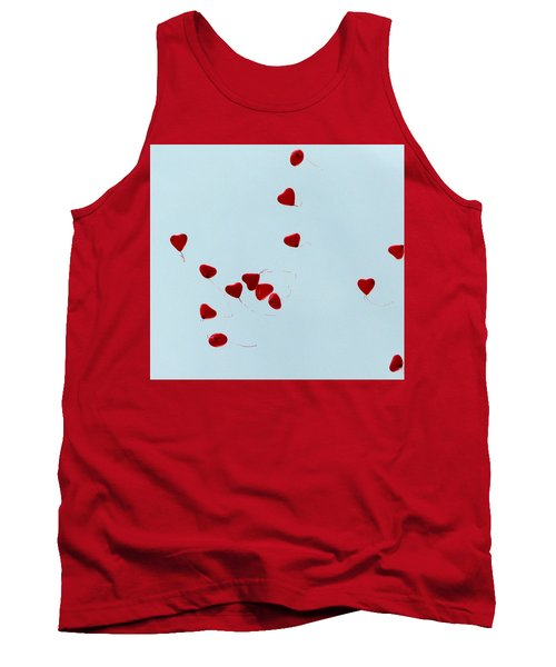 Heart Balloons In The Sky Tank Top by Valerie Ornstein