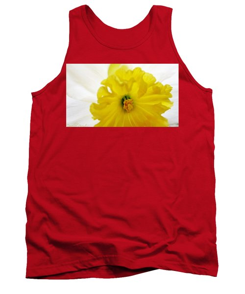Heart Of A Daffodil  Tank Top by Danielle  Parent