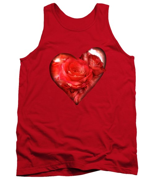 Heart Of A Rose - Red Tank Top