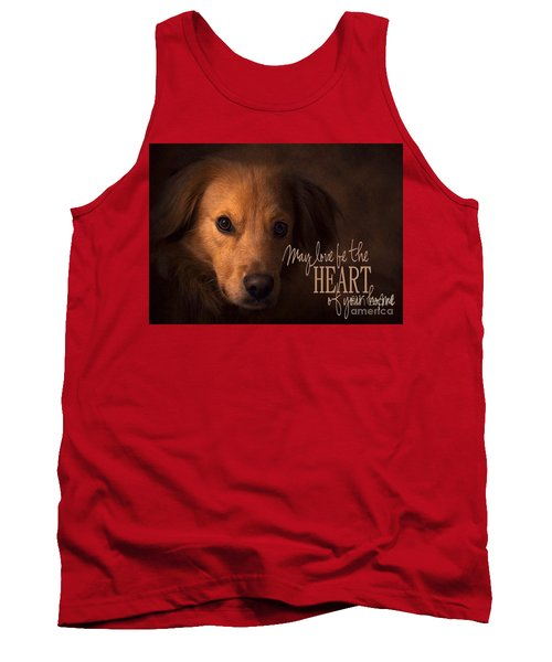 Tank Top featuring the digital art Heart Of Your Home  by Kathy Tarochione