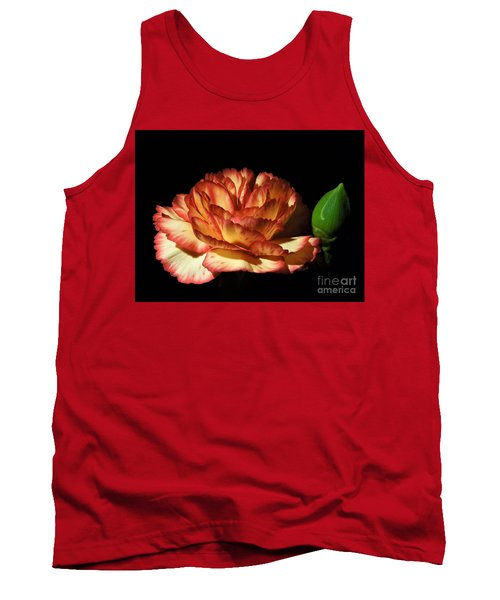 Heavenly Outlined Carnation Flower Tank Top