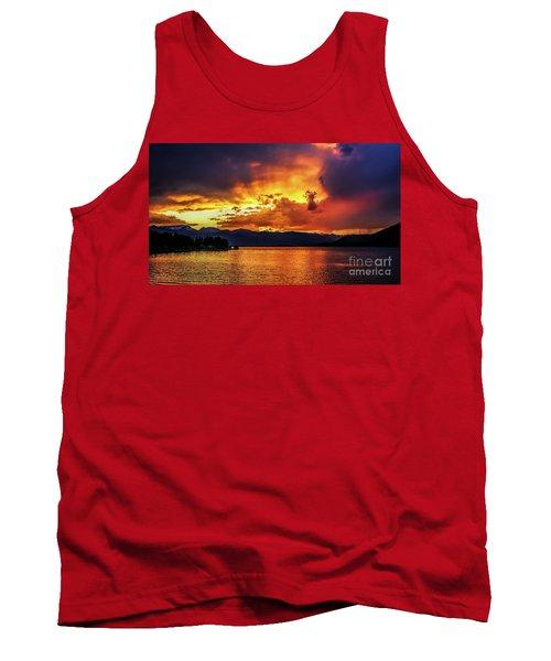 Hebgen Lake Sunset Tank Top