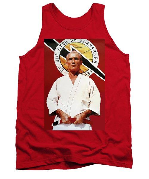 Helio Gracie - Famed Brazilian Jiu-jitsu Grandmaster Tank Top by Daniel Hagerman
