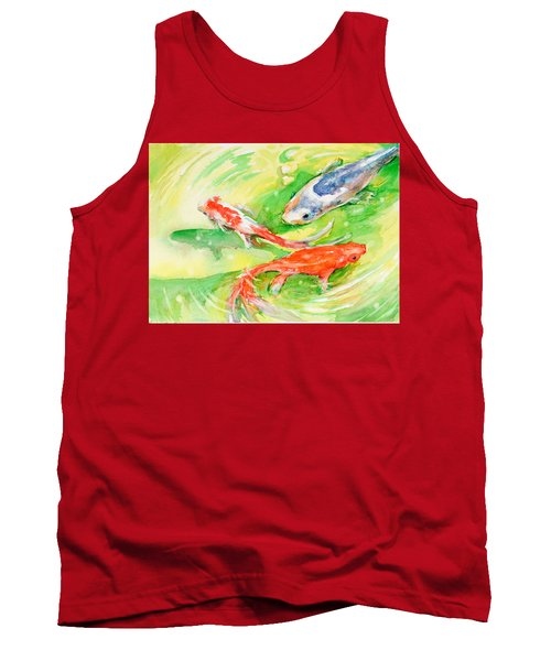 Here Comes Moby Tank Top by Judith Levins