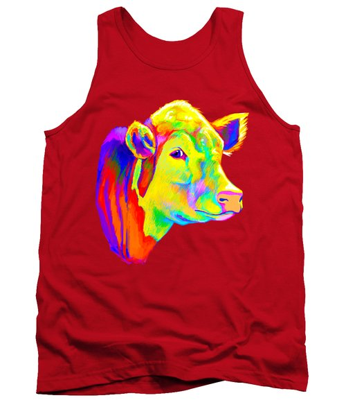 Hereford Cow In Colors Tank Top