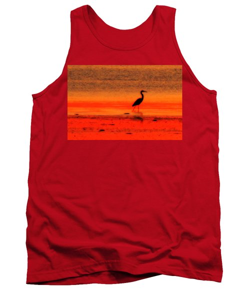 Heron At Dawn Tank Top