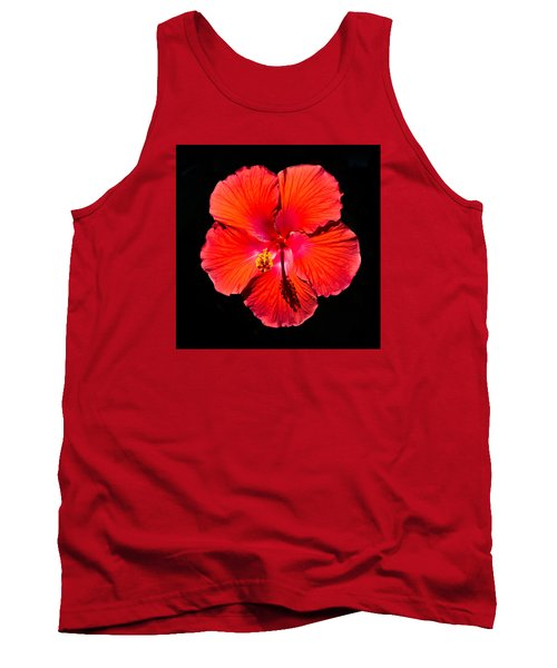 Hibiscus Flower Tank Top by Kenneth Cole