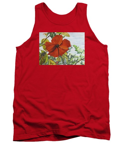 Hibiscus St Thomas Tank Top