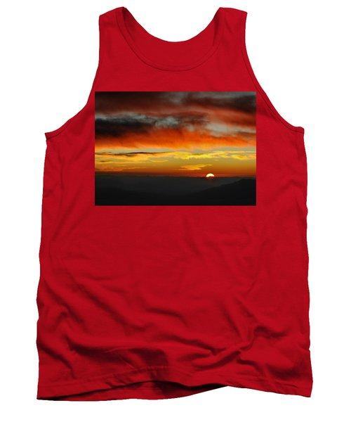 Tank Top featuring the photograph High Altitude Fiery Sunset by Joe Bonita