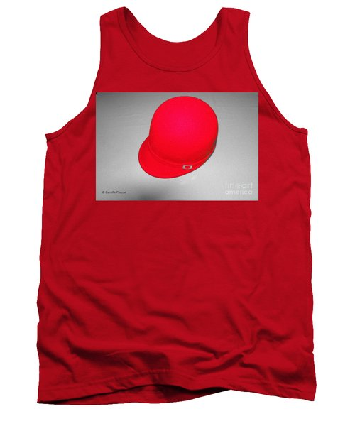 Hints Of Red - Hat Tank Top