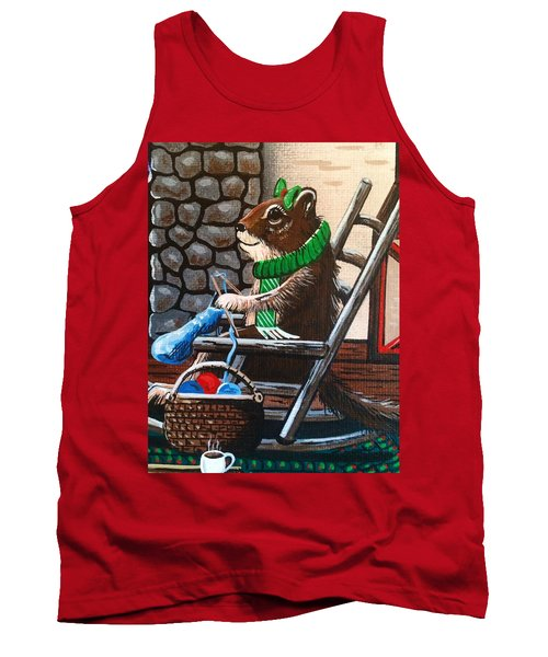 Holiday Knitting Tank Top
