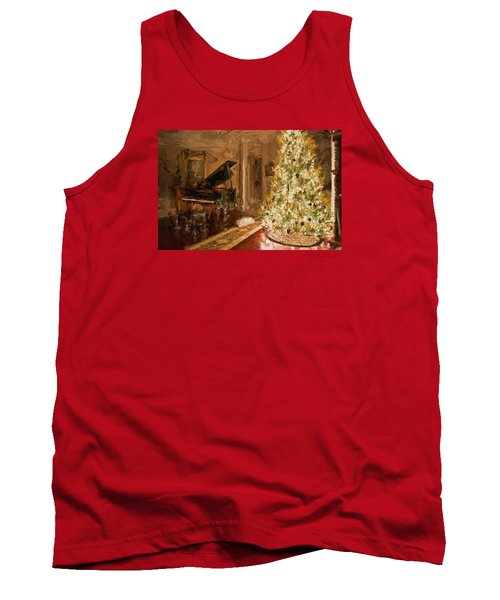 Home For Christmas Tank Top by Cathy Jourdan