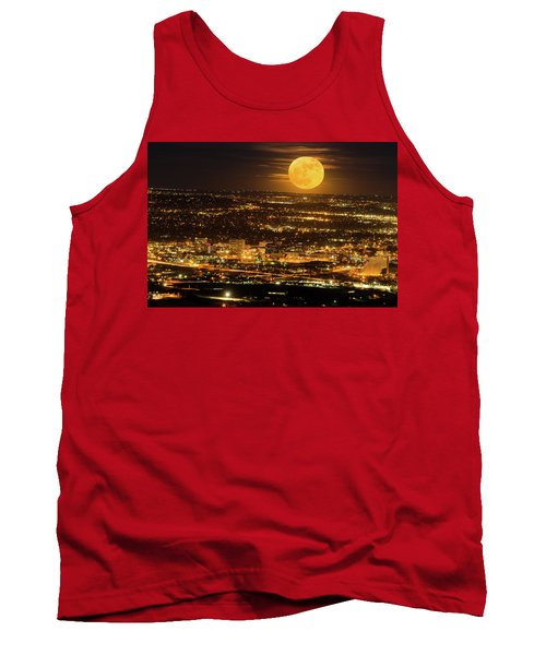 Home Sweet Hometown Bathed In The Glow Of The Super Moon  Tank Top by Bijan Pirnia