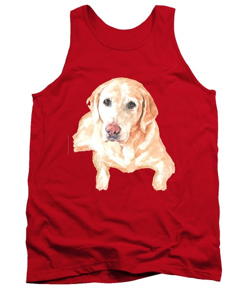 Honey Lab T-shirt Tank Top by Herb Strobino