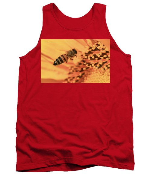 Tank Top featuring the photograph Honeybee And Sunflower by Chris Berry