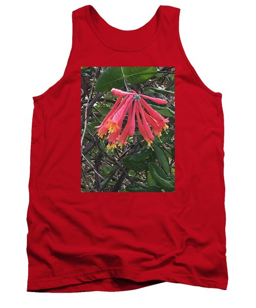 Tank Top featuring the photograph Honeysuckle by Kay Gilley