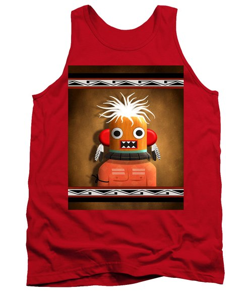 Tank Top featuring the digital art Hopi Indian Kachina by John Wills