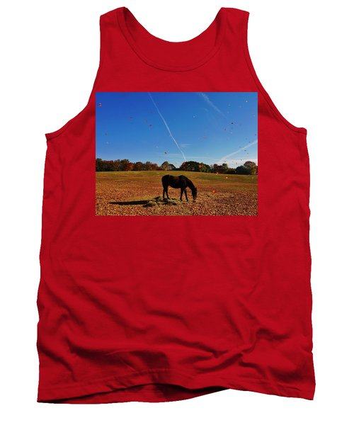Horse Farm In The Fall Tank Top by Ed Sweeney