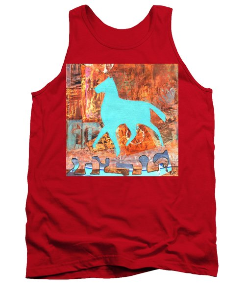 Tank Top featuring the painting Horse Remix by Patricia Cleasby