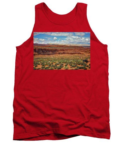 Tank Top featuring the photograph Horseshoe Bend  - Arizona by Jennifer Rondinelli Reilly - Fine Art Photography