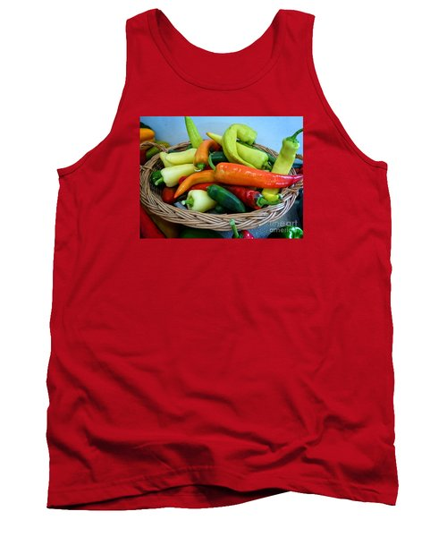 Hot Peppers Tank Top by Dee Flouton