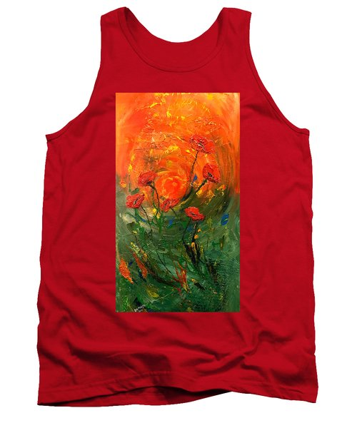 Hot Summer Poppies Tank Top by Dorothy Maier