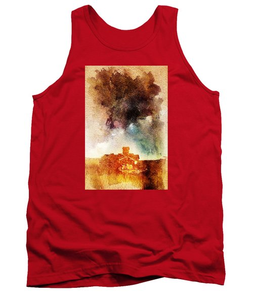 Tank Top featuring the digital art House And Night by Andrea Barbieri