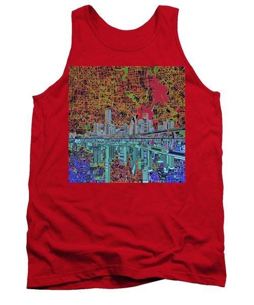 Houston Skyline Abstract 3 Tank Top