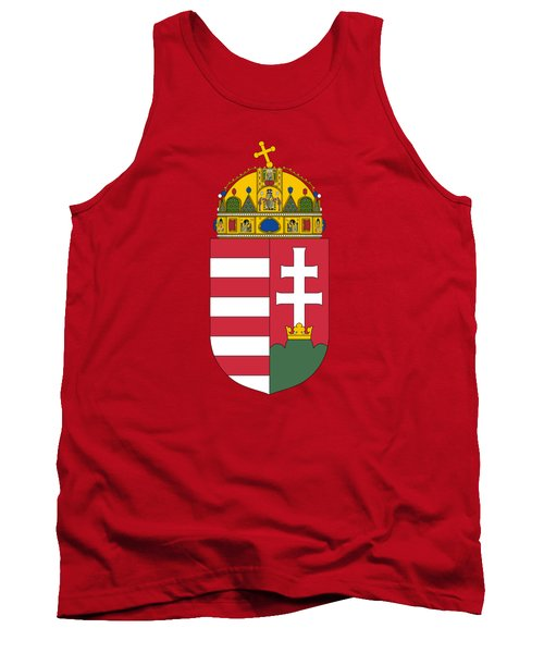 Tank Top featuring the drawing Hungary Coat Of Arms by Movie Poster Prints