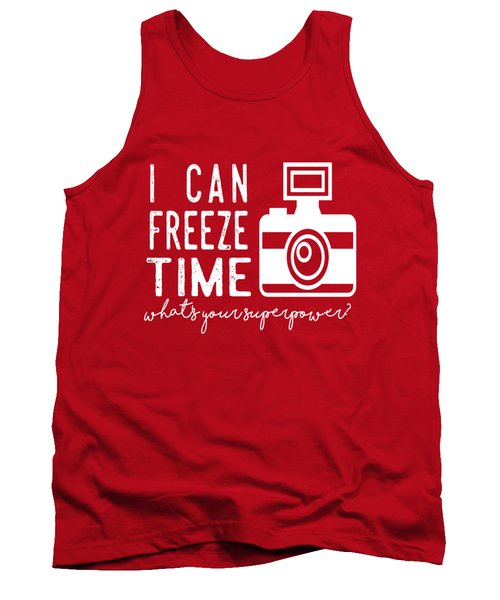 Tank Top featuring the photograph I Can Freeze Time by Heather Applegate