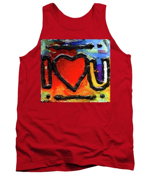 Tank Top featuring the painting I Heart You by Genevieve Esson