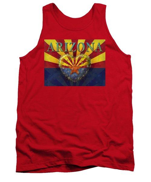 I Love Arizona Flag Tank Top by James Larkin