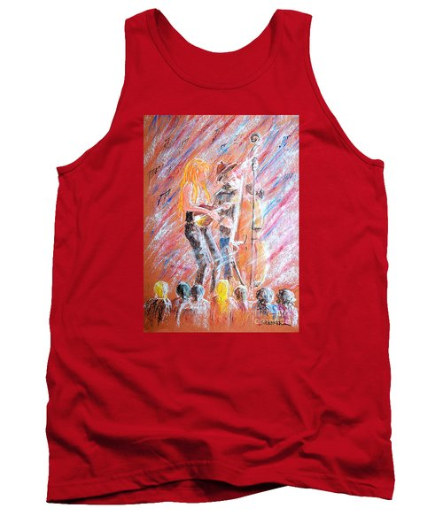 Tank Top featuring the painting I Love Bluegrass by Bill Holkham