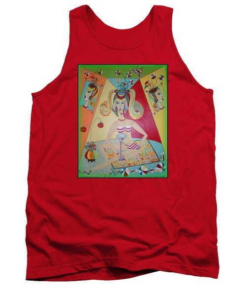 I Love This Cherry Tank Top by Marie Schwarzer